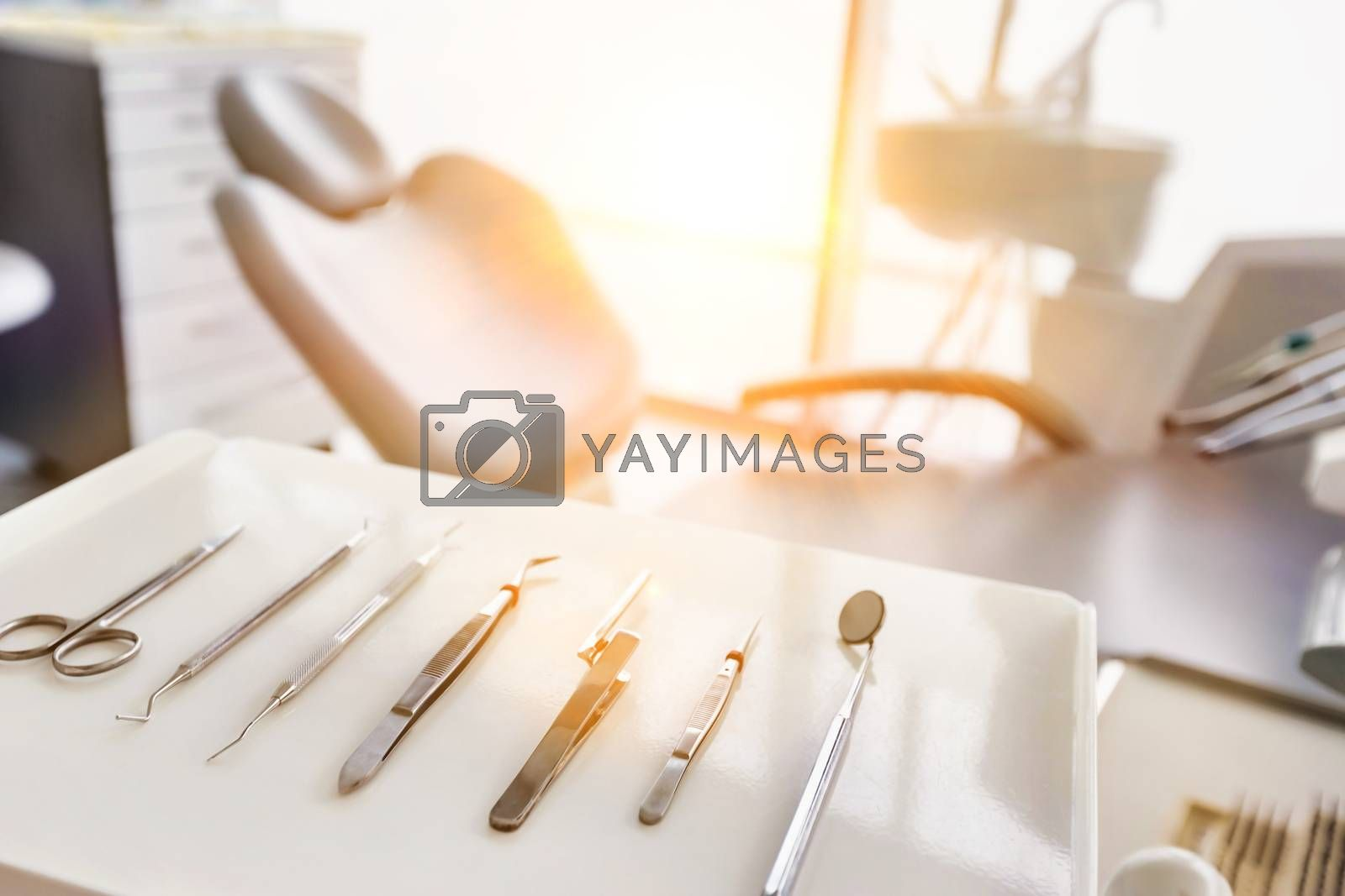 Dental clinic and dental instruments by moodboard