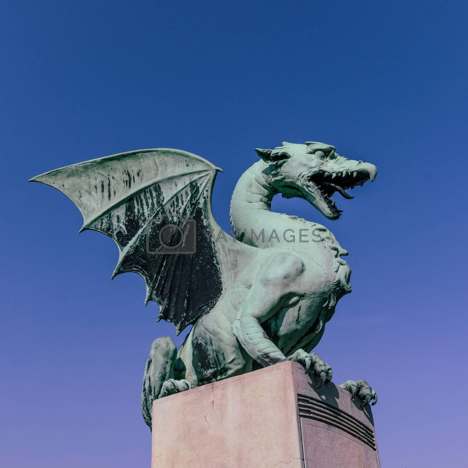 The Dragon Bridge in Ljubljana by brambillasimone