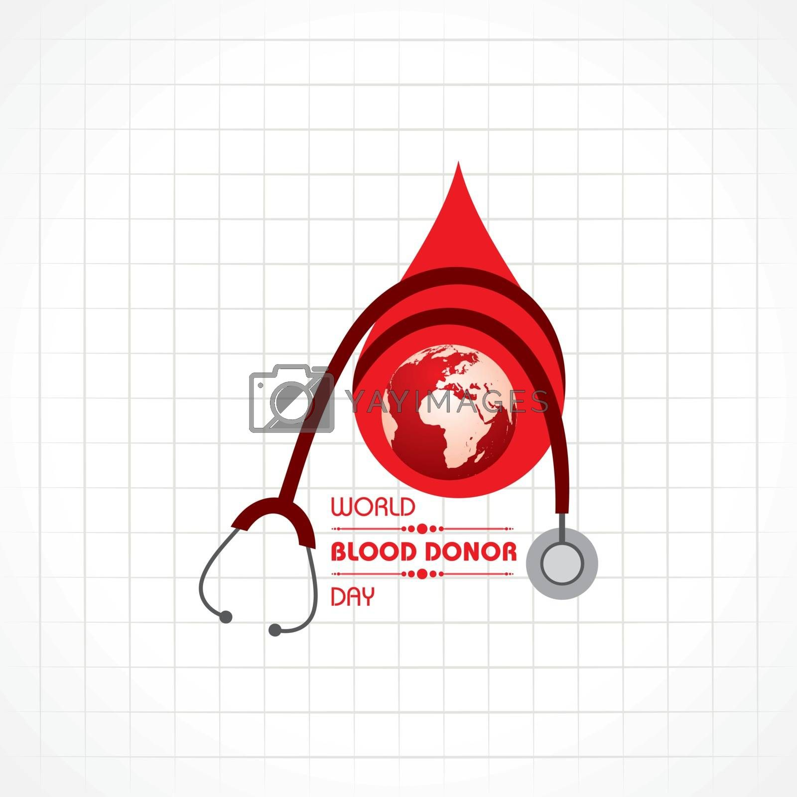 World Blood Donor Day.Donate Blood Concept by graphicsdunia4you