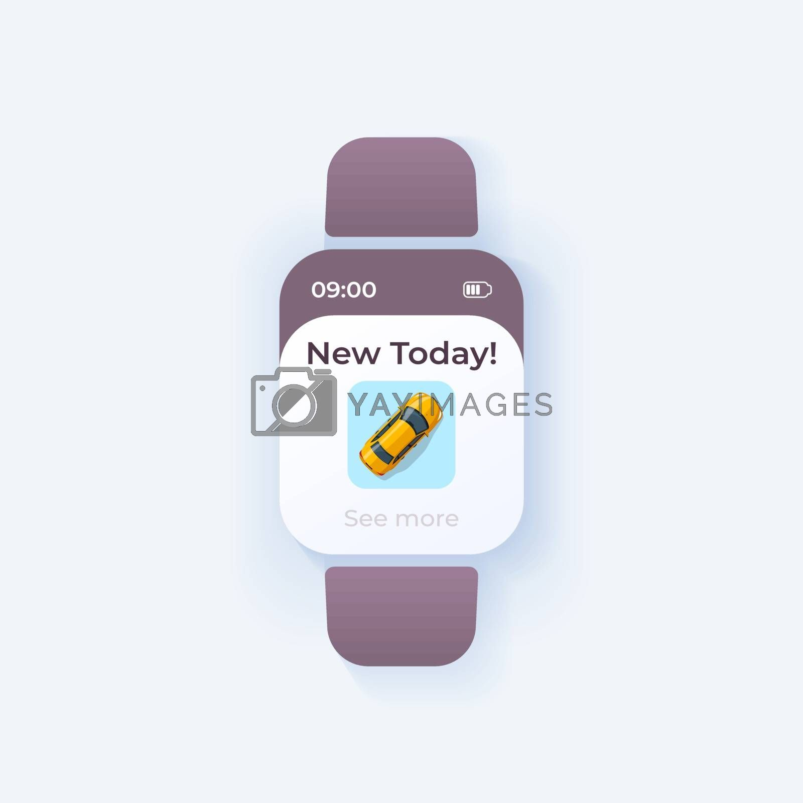 Car delivery smartwatch interface vector template by bsd