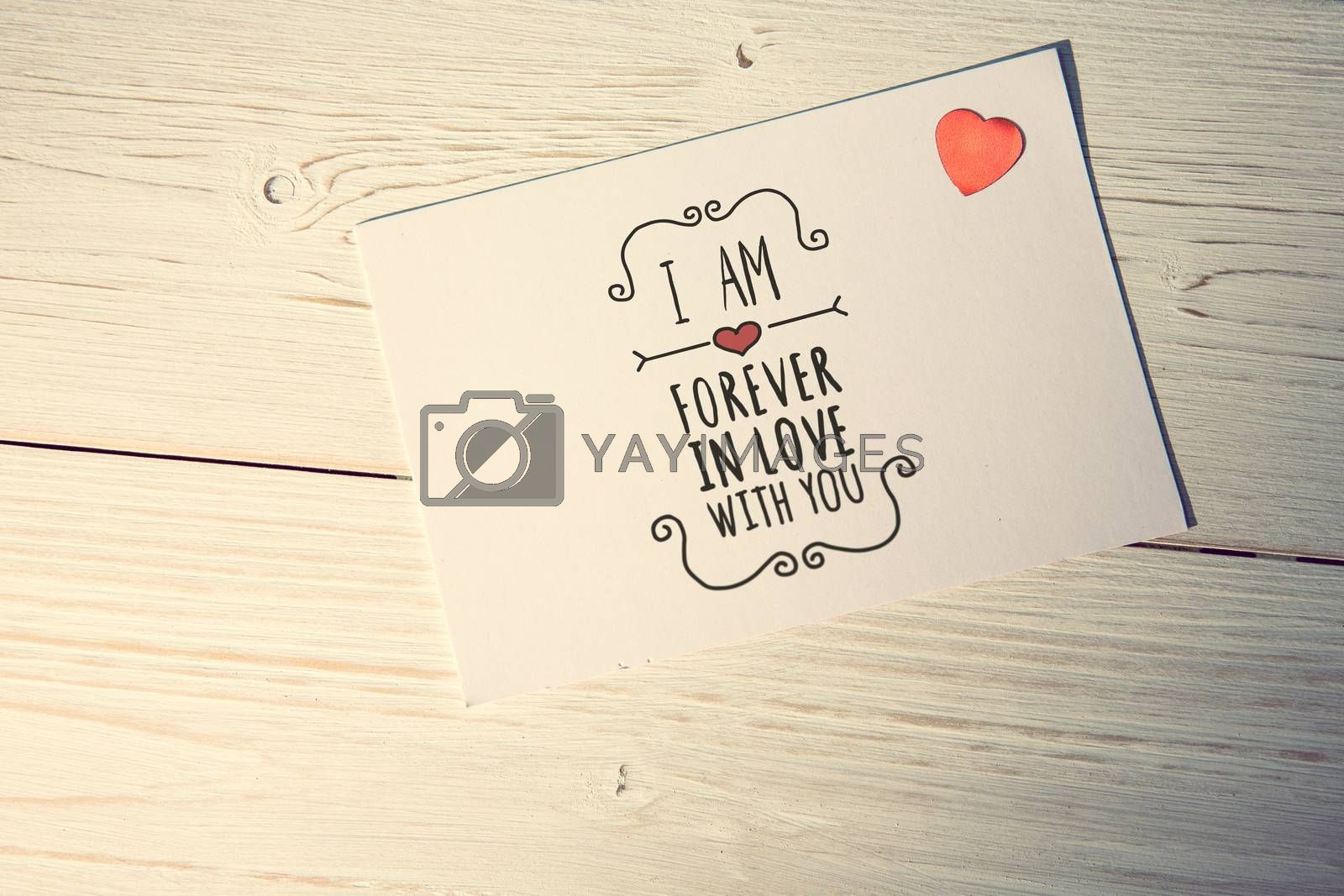 Valentines message against love letter