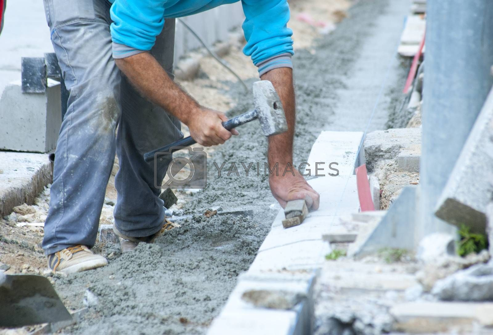 municipal work, reconstruction of a street road, image