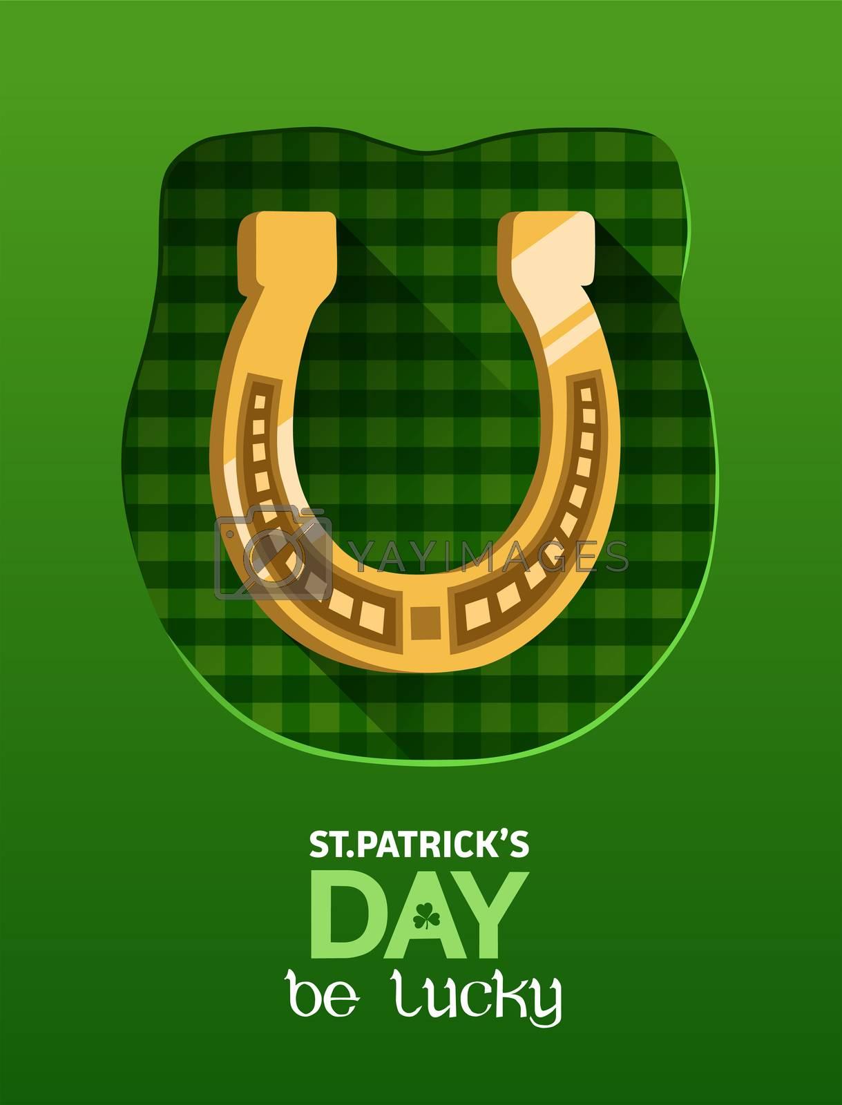 Digitally generated St patricks day vector