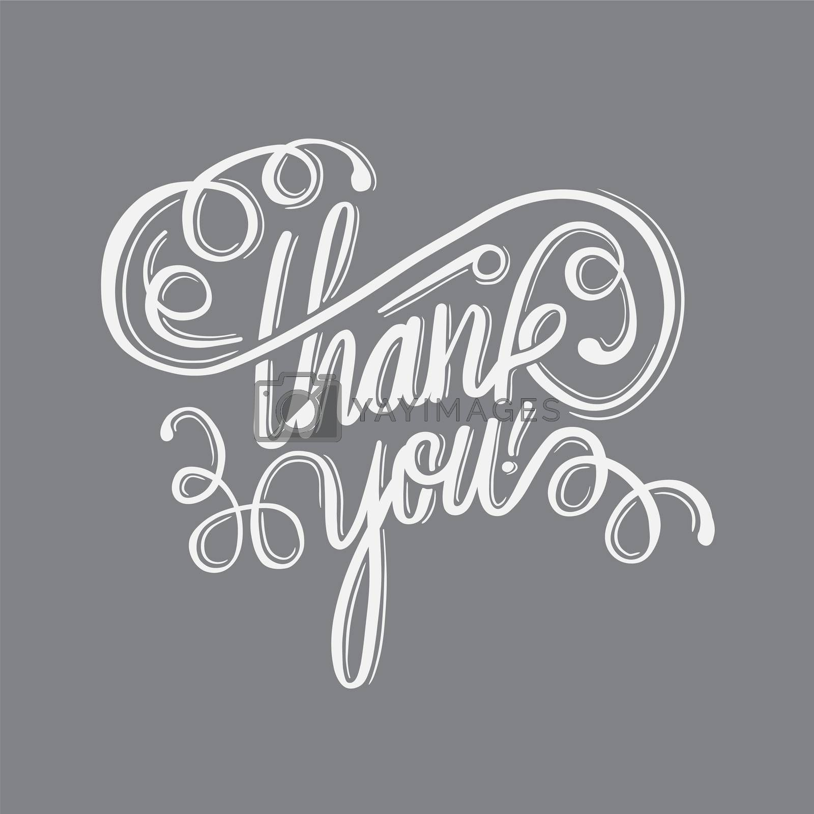 Digitally generated Thank you in cursive script