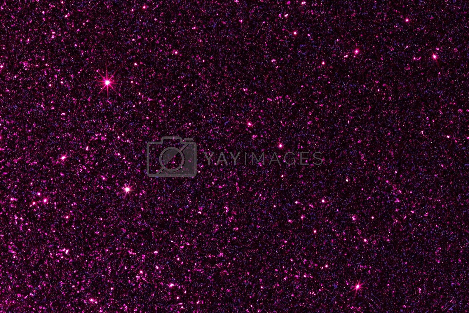 Purple purplish glitter texture background, macro shot