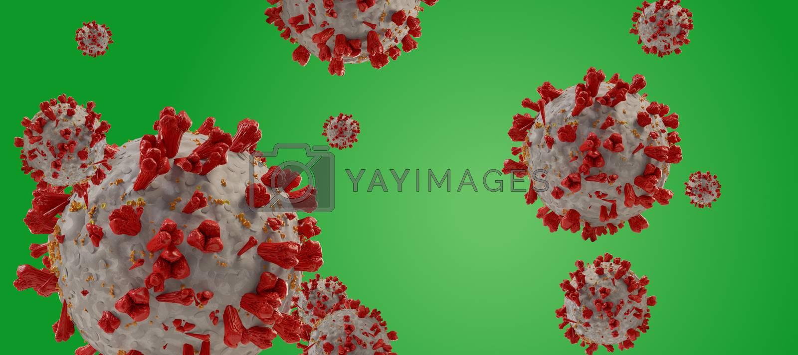 virus COVID-19 Coronavirus symbolic detailed design background 3d-illustration