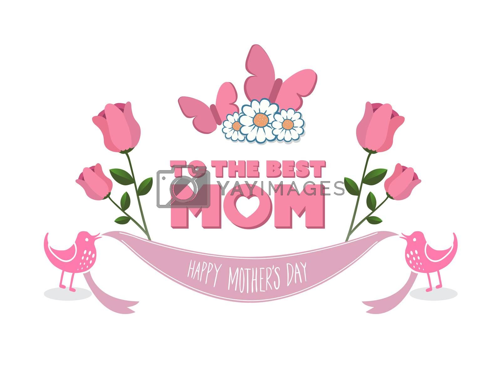 Digitally generated Mothers day vector