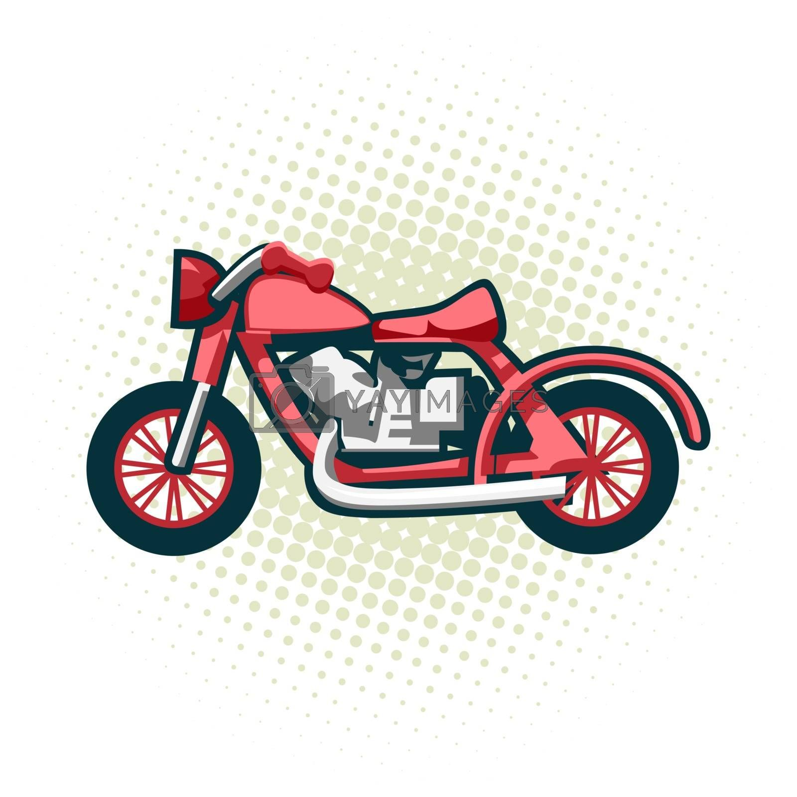 The classic retro motorcycle. This is the great example of an old racing bikes. by Zhukovskyi