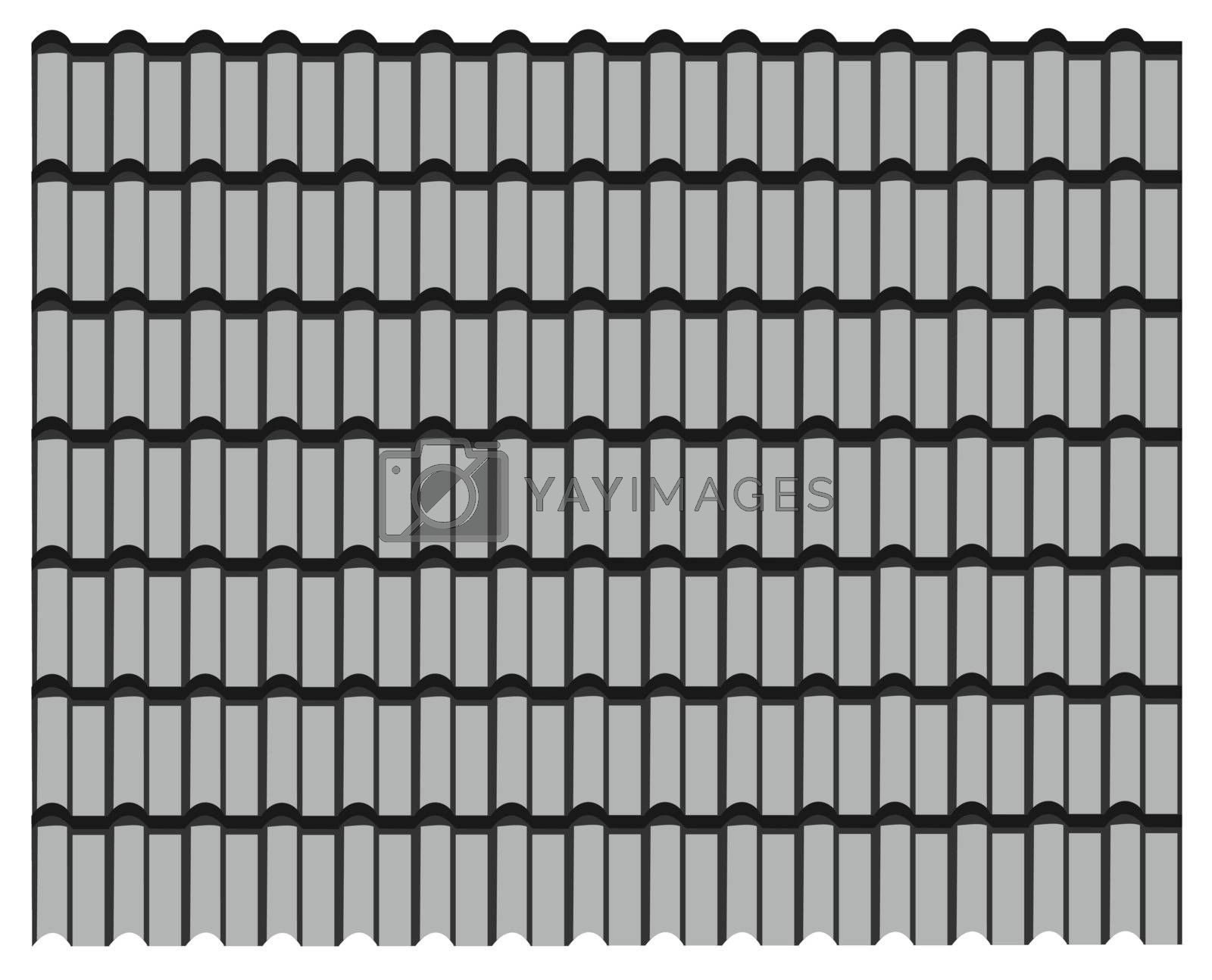 group of gray tiles roof, pattern texture gray background.