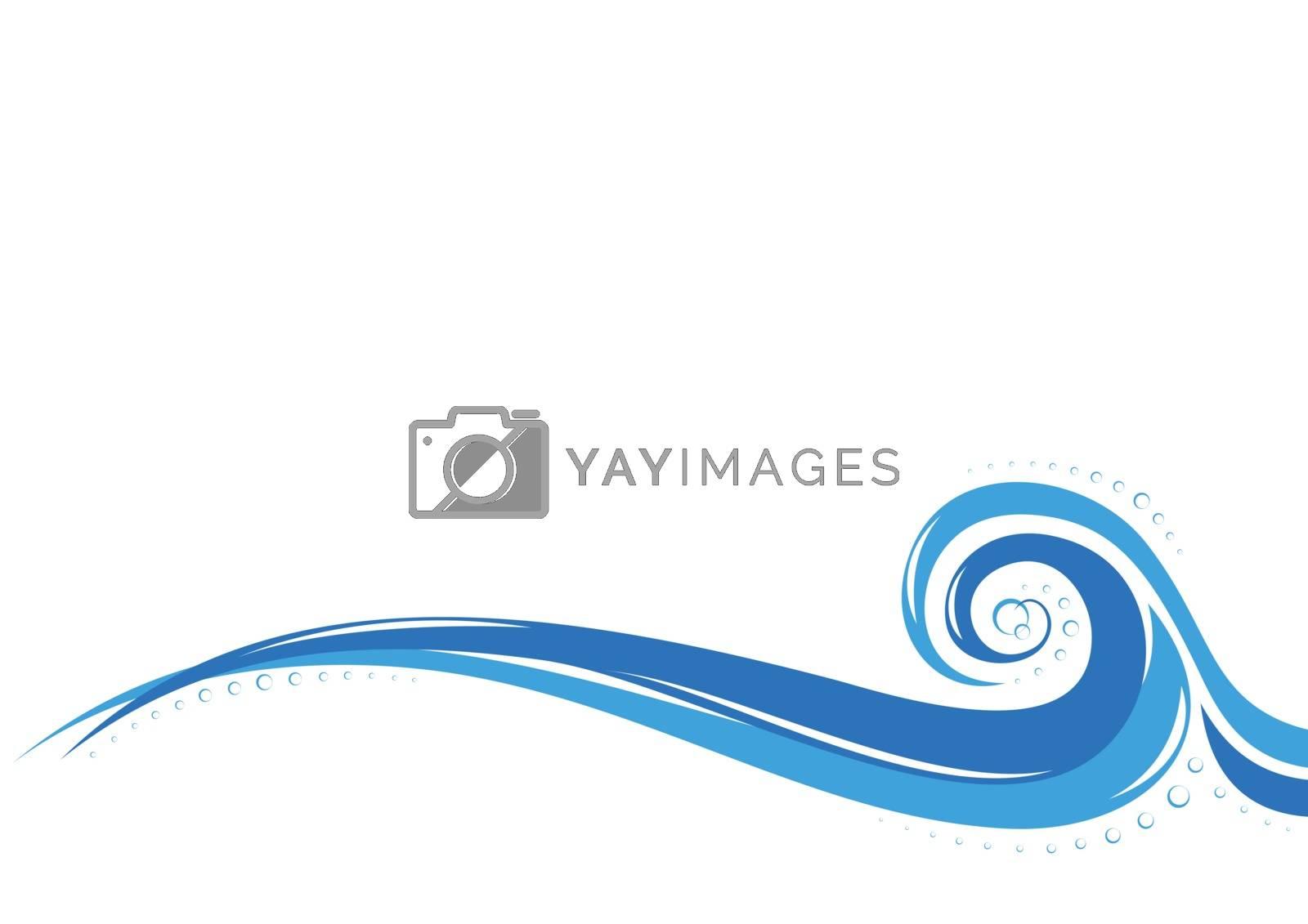Abstract aqua wave design background, vector illustration