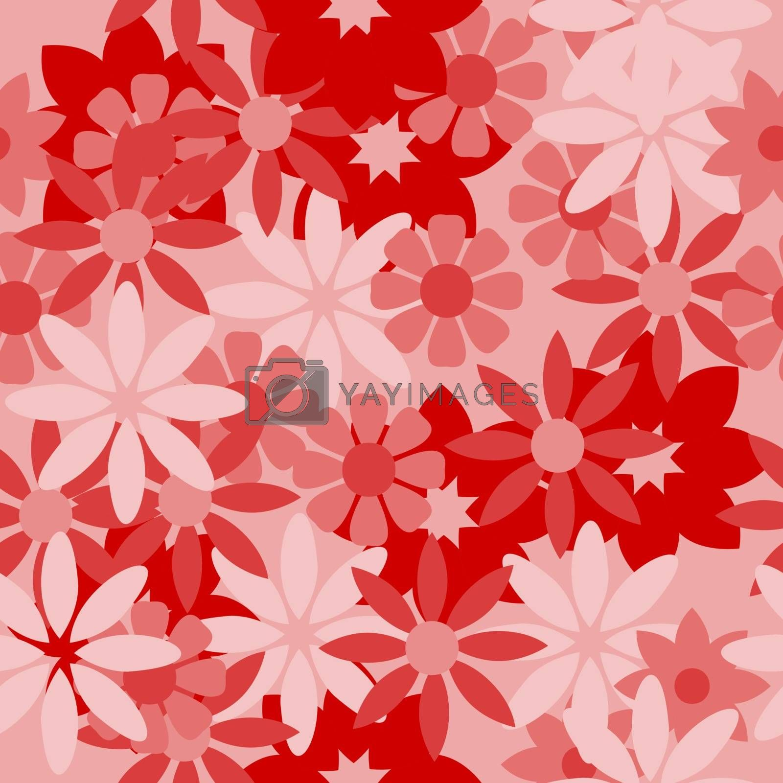 Floral pattern with abstract flowers.Ethnic endless background with ornamental decorative elements with traditional etnic motives, tribal geometric figures. Print for wrapping, background.  Use for wallpaper,pattern fills, web page background