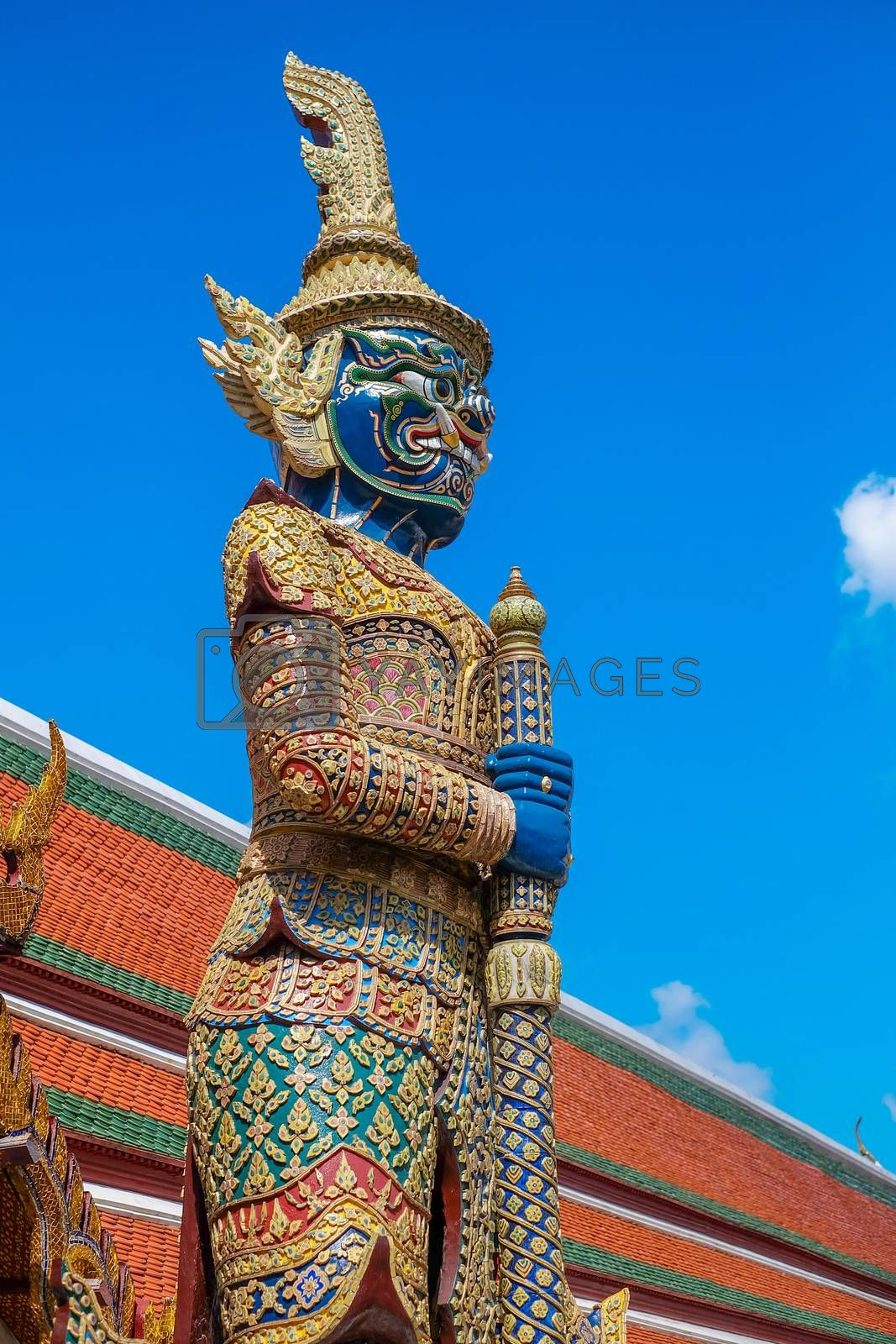 Blue Giant in Thailand on Blue sky