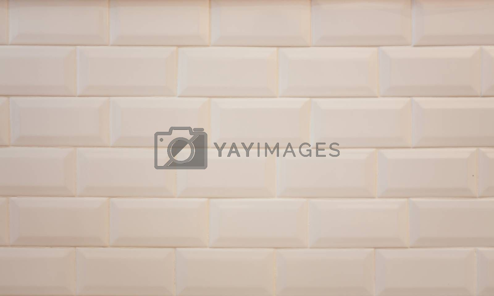 White tile wall abstract background  by punsayaporn