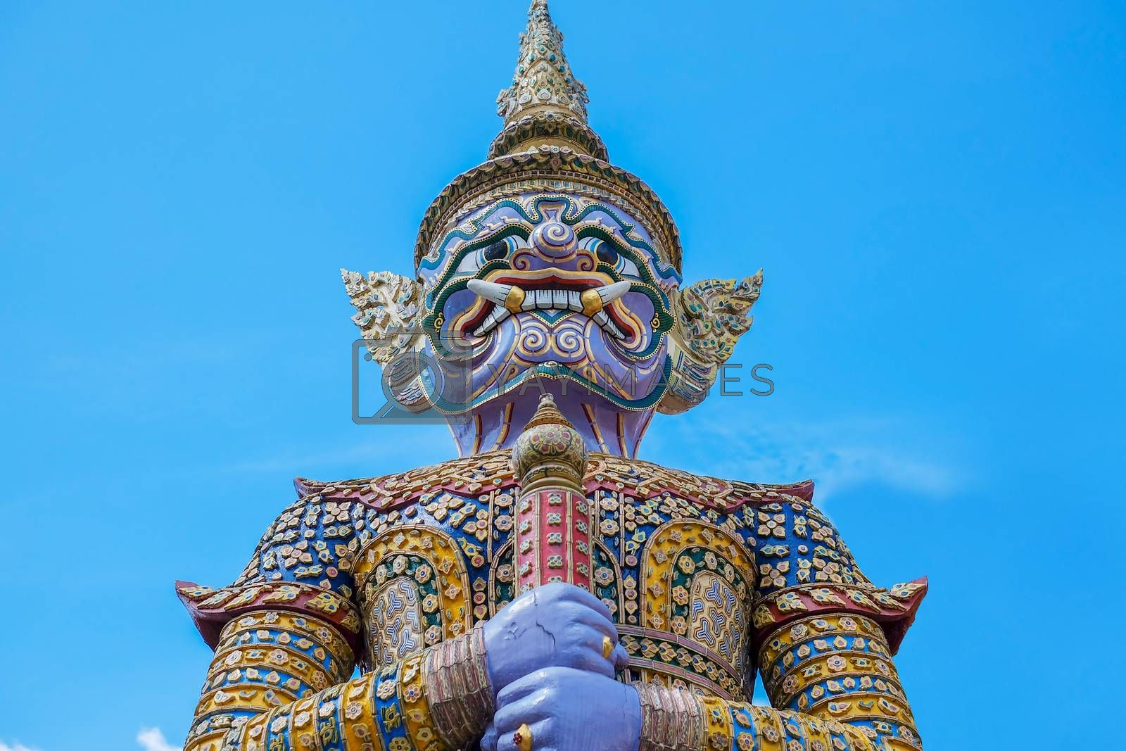 Purple Giant in Thailand on Blue sky