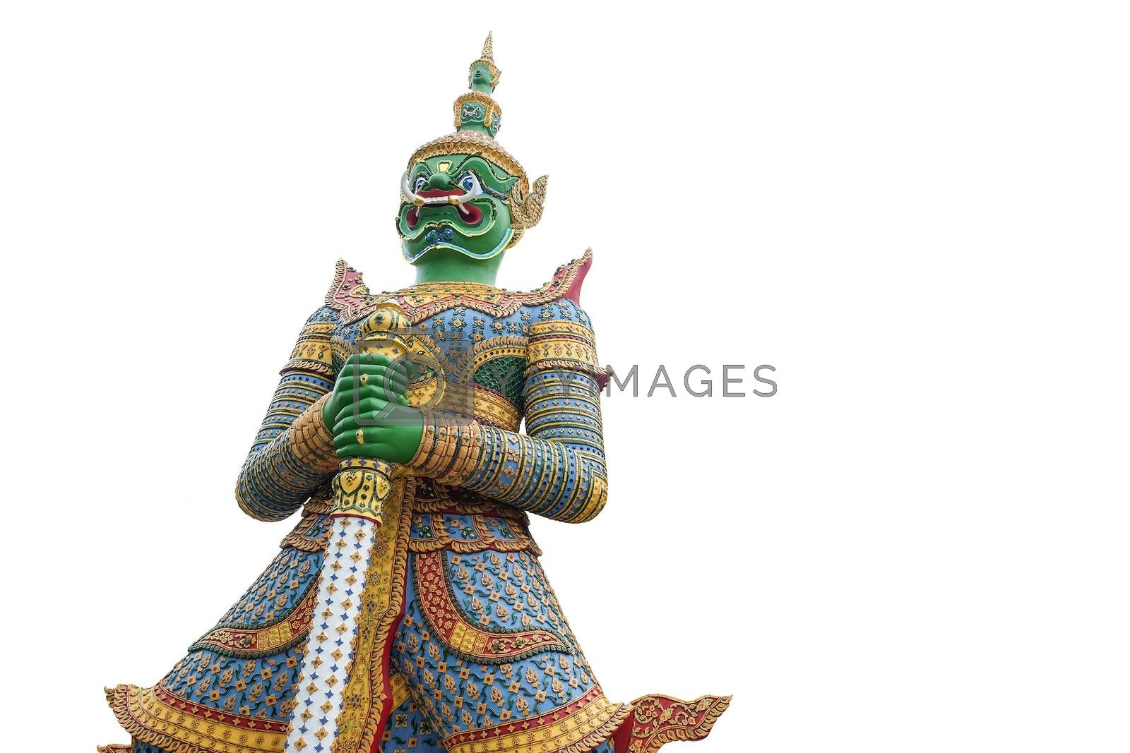 Green Giant in Thailand on white backgroud with clipping path