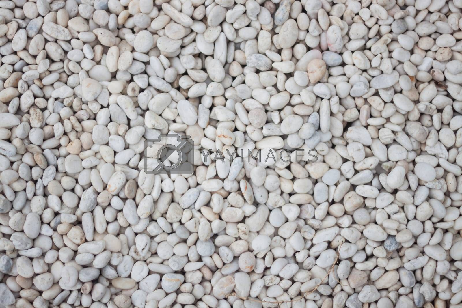 White pebbles textured abstract background, stock photo