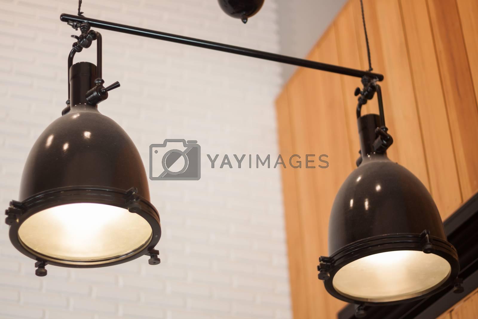 Decorative light bulbs in modern style, stock photo