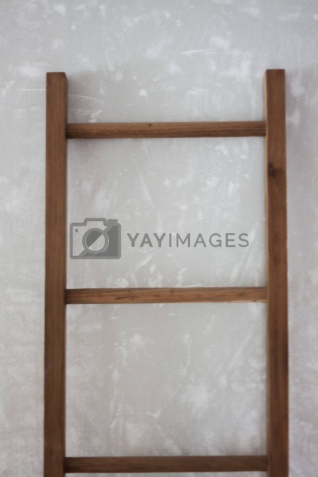 Wooden hanging decorated in coffee shop, stock photo