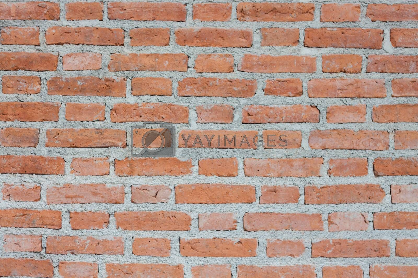 Background of old vintage brick wall by punsayaporn
