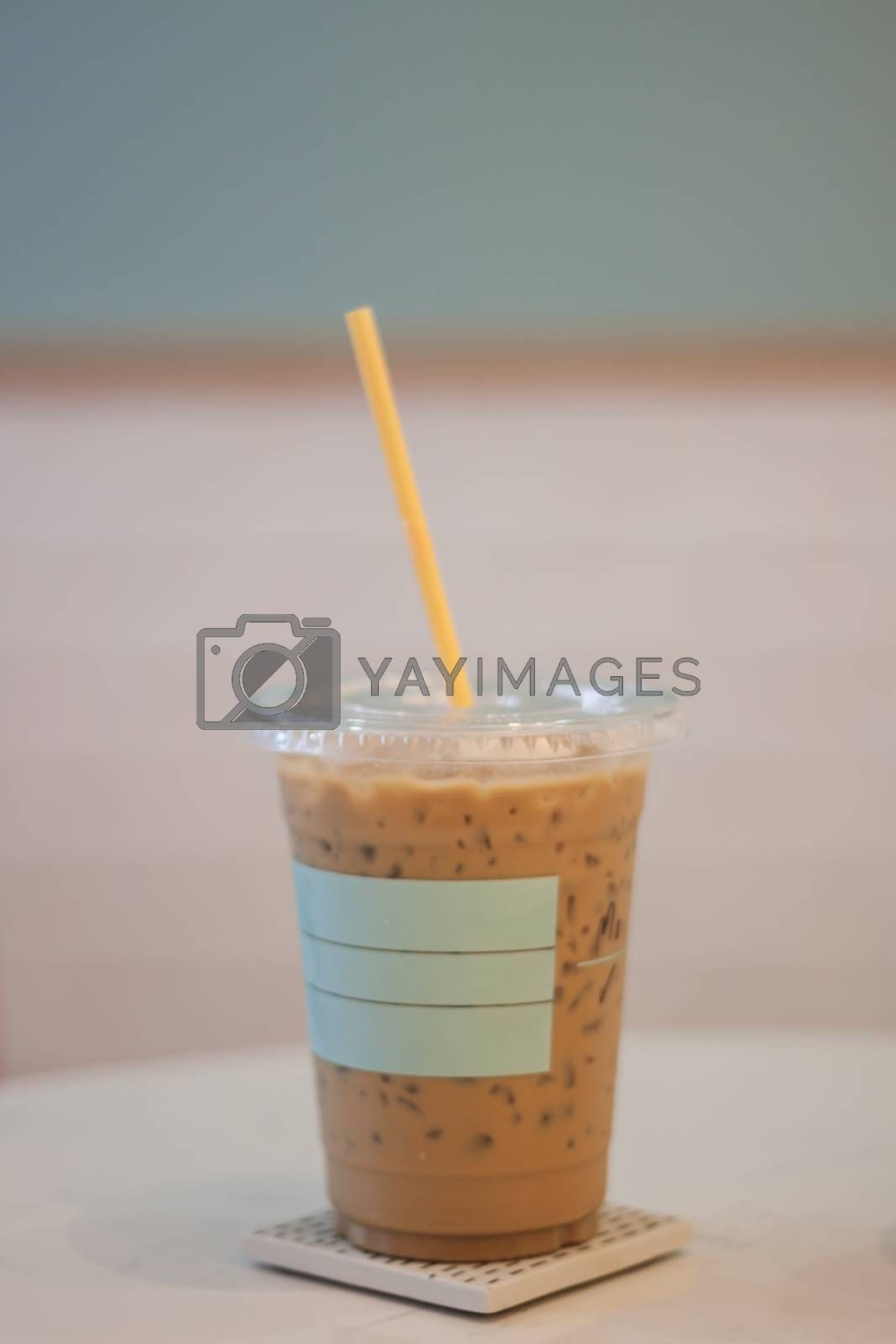 Iced coffee in coffee shop by punsayaporn
