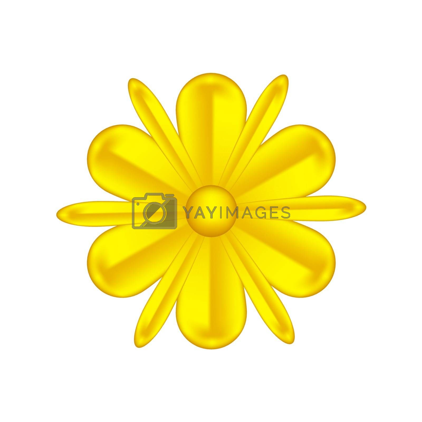 single flowers gold ornate isolated on white background, luxury flower petal gold simple, golden flowers object metal sculpture, illustration of deluxe golden flower, clip art flowers luxurious gold by cgdeaw