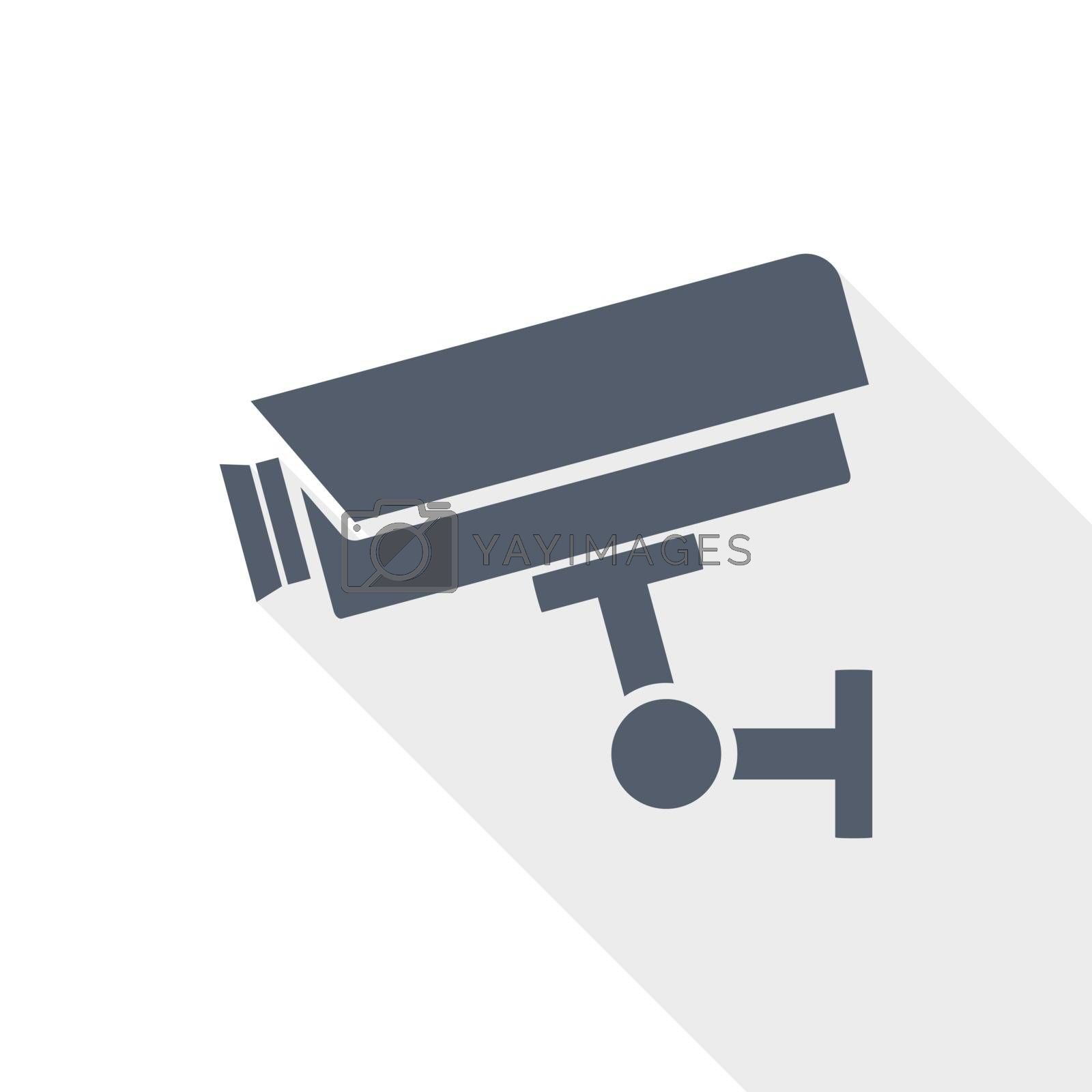 cctv camera flat design vector icon
