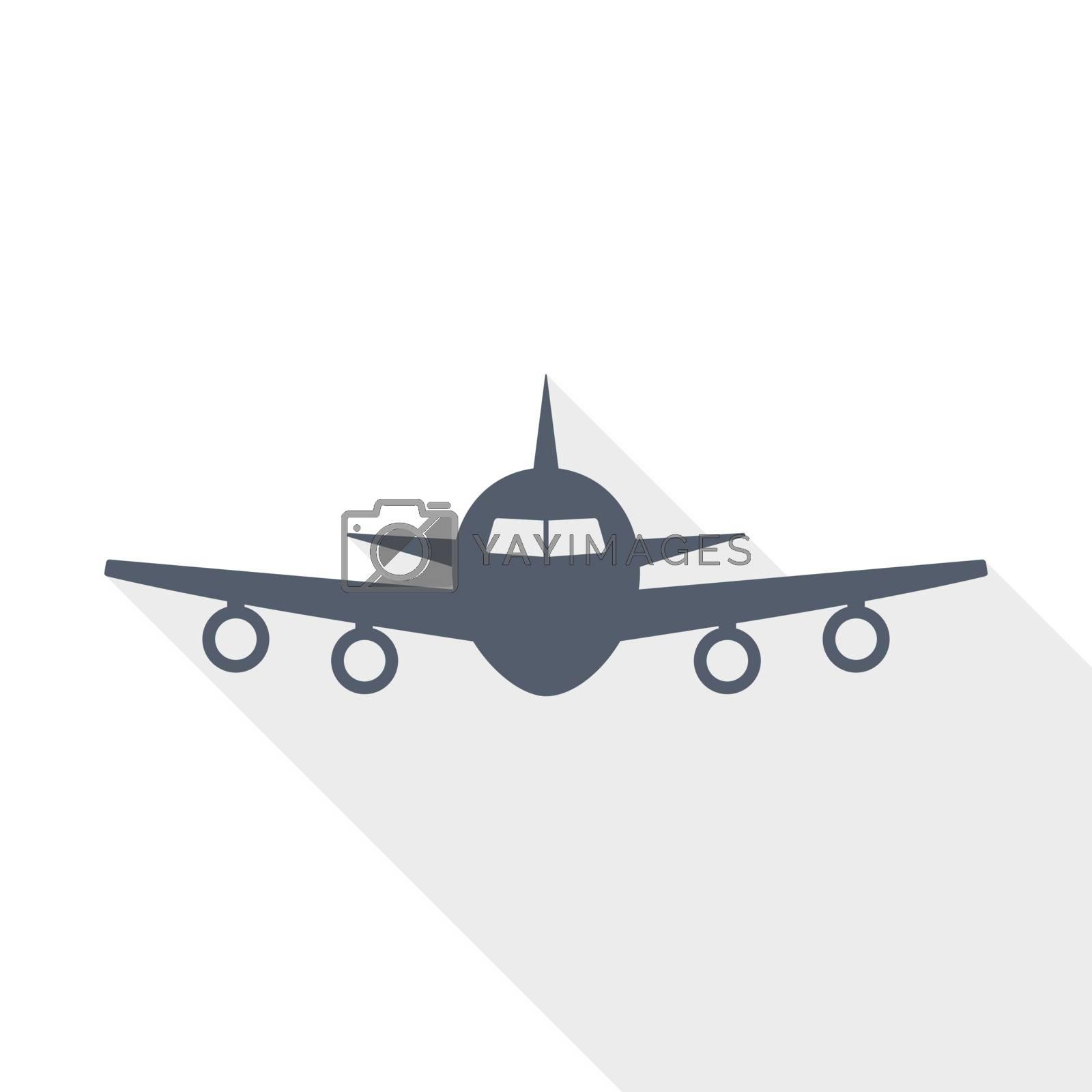 flight, plane, aircraft concept flat design vector icon