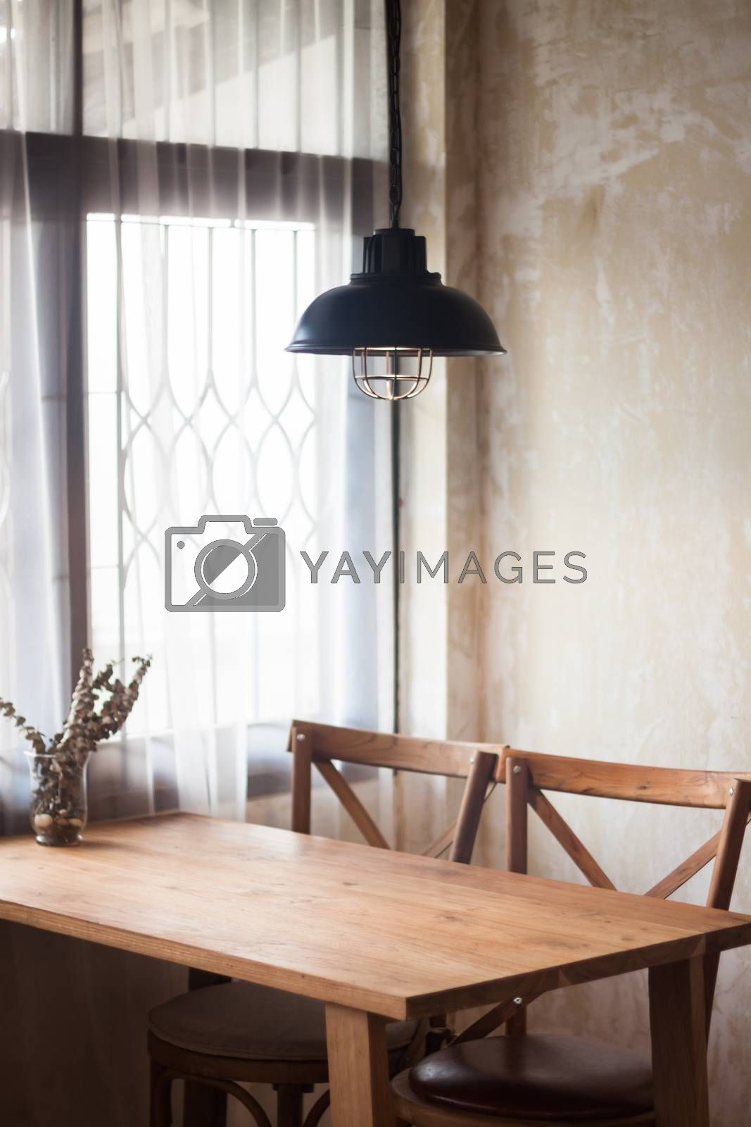 Interior design of coffee shop, stock photo