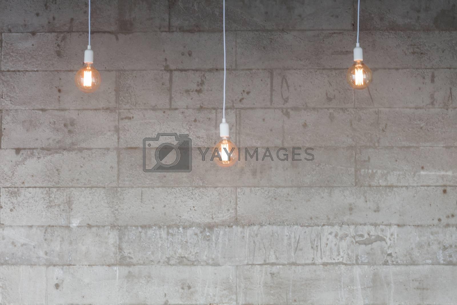 Beautiful retro light lamp decorated glowing, stock photo