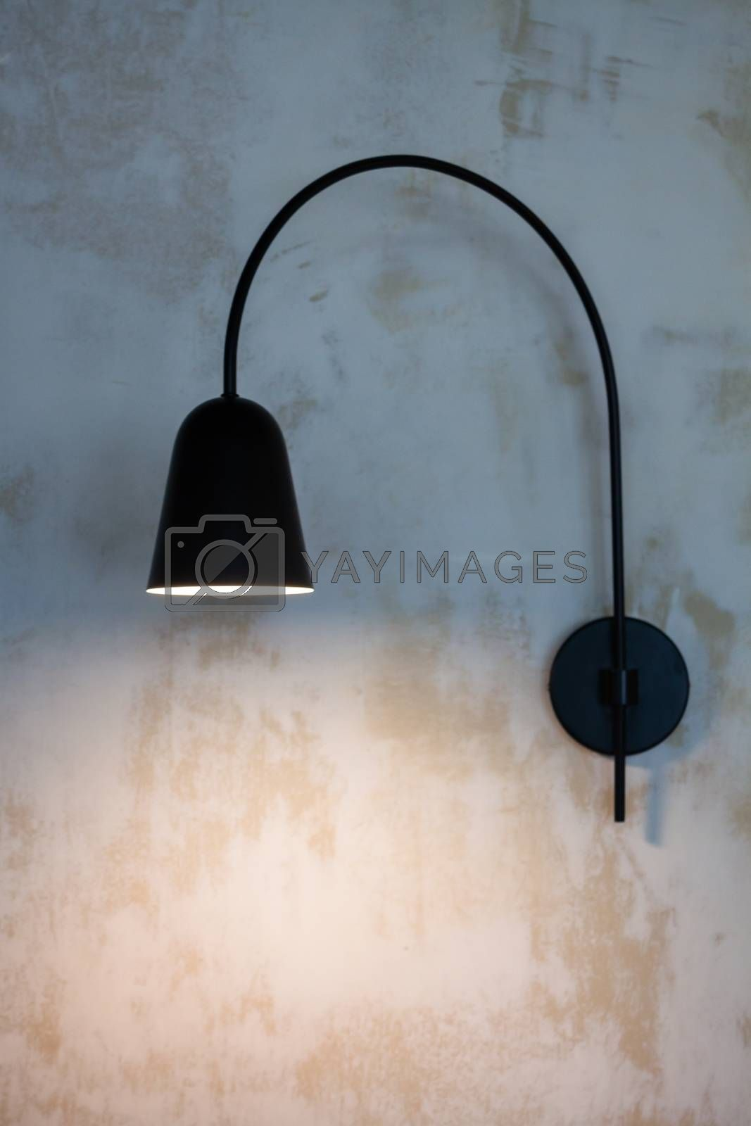 Lamps in a modern cafe, stock photo