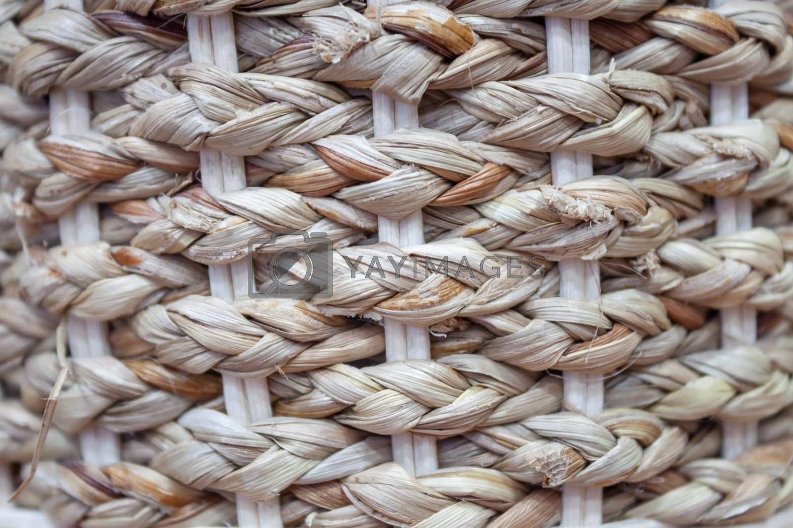 Close up handcraft weave texture background, stock photo