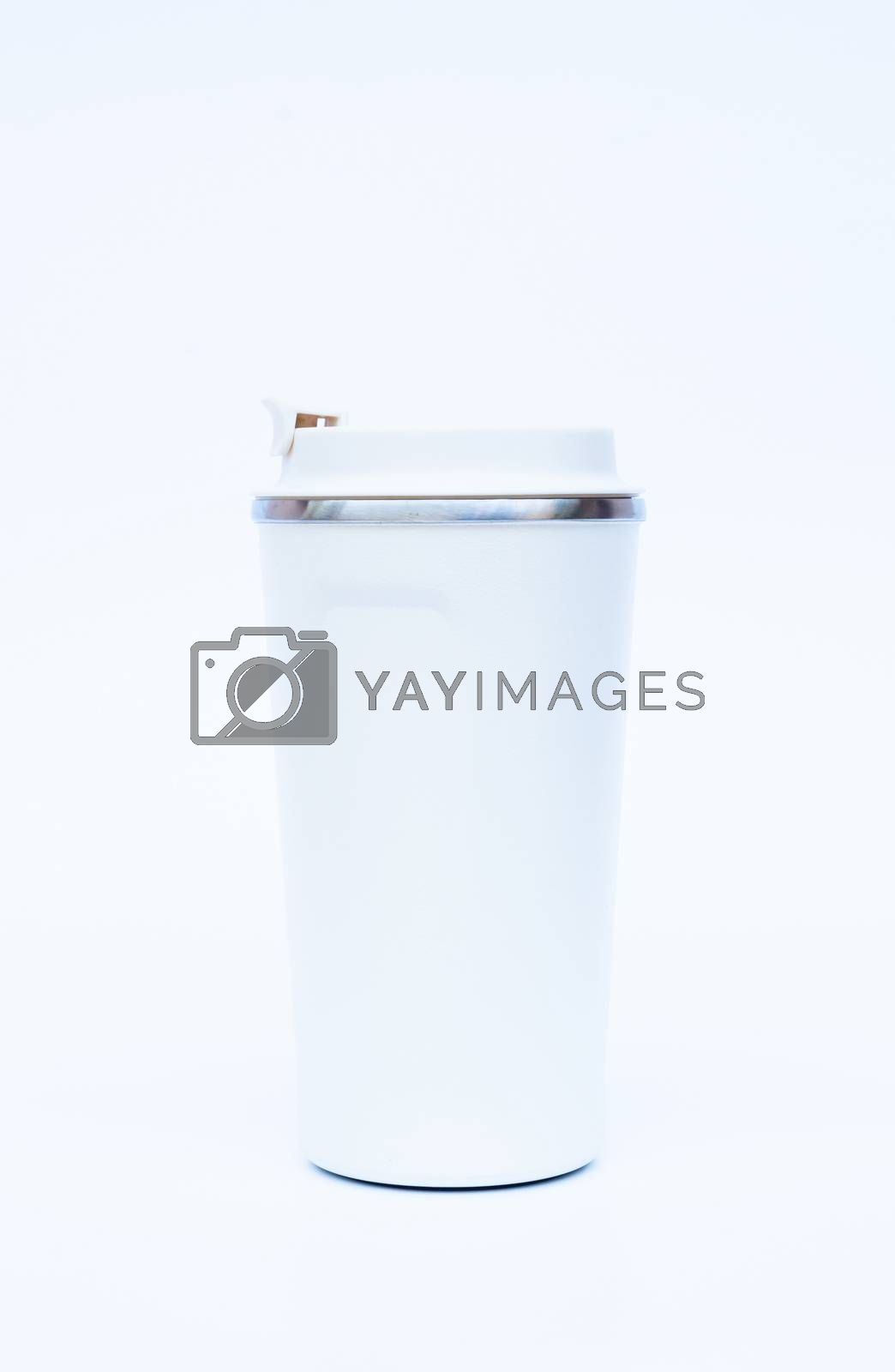 Tumbler isolated on white background, stock photo