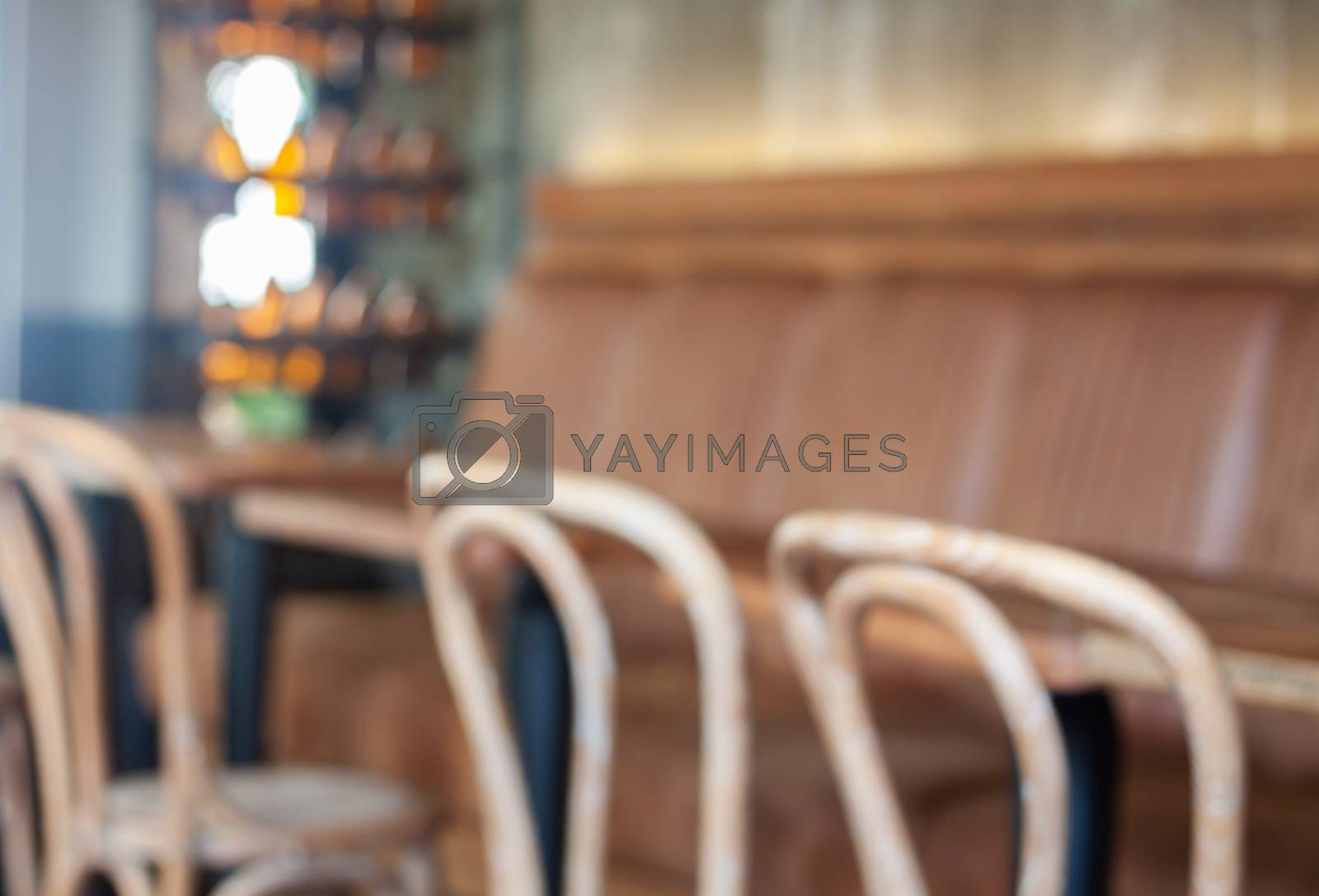 Table and chairs in coffee shop, stock photo
