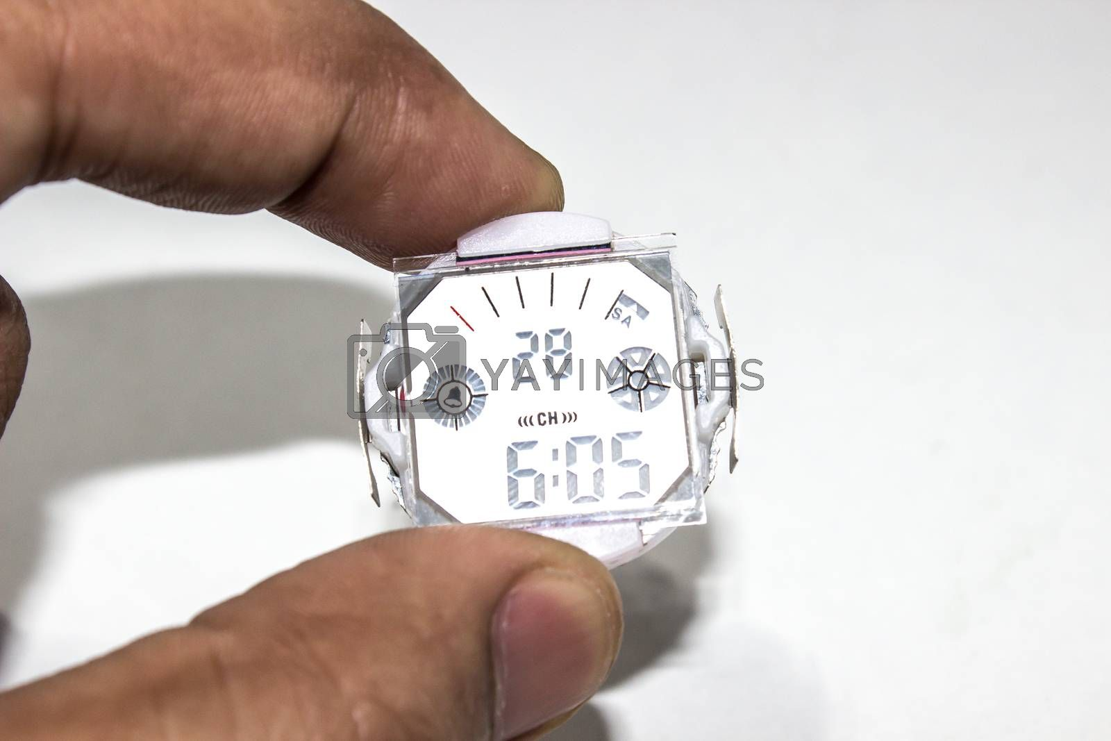 A picture of digital watch
