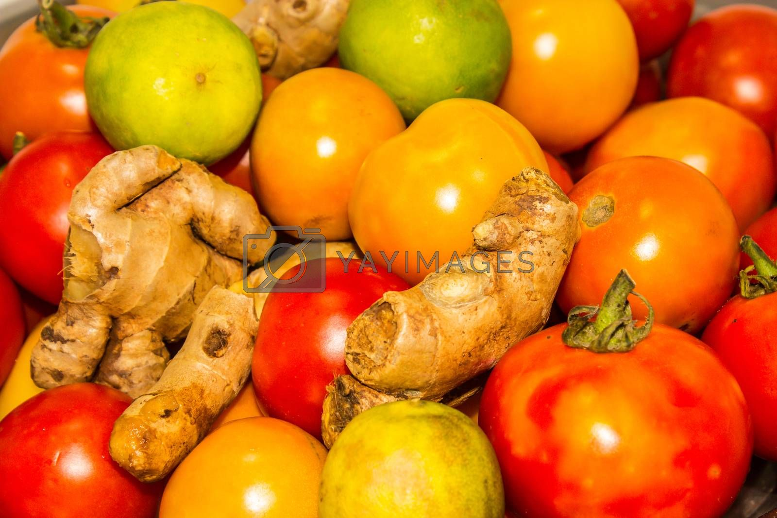 A picture of vegetables