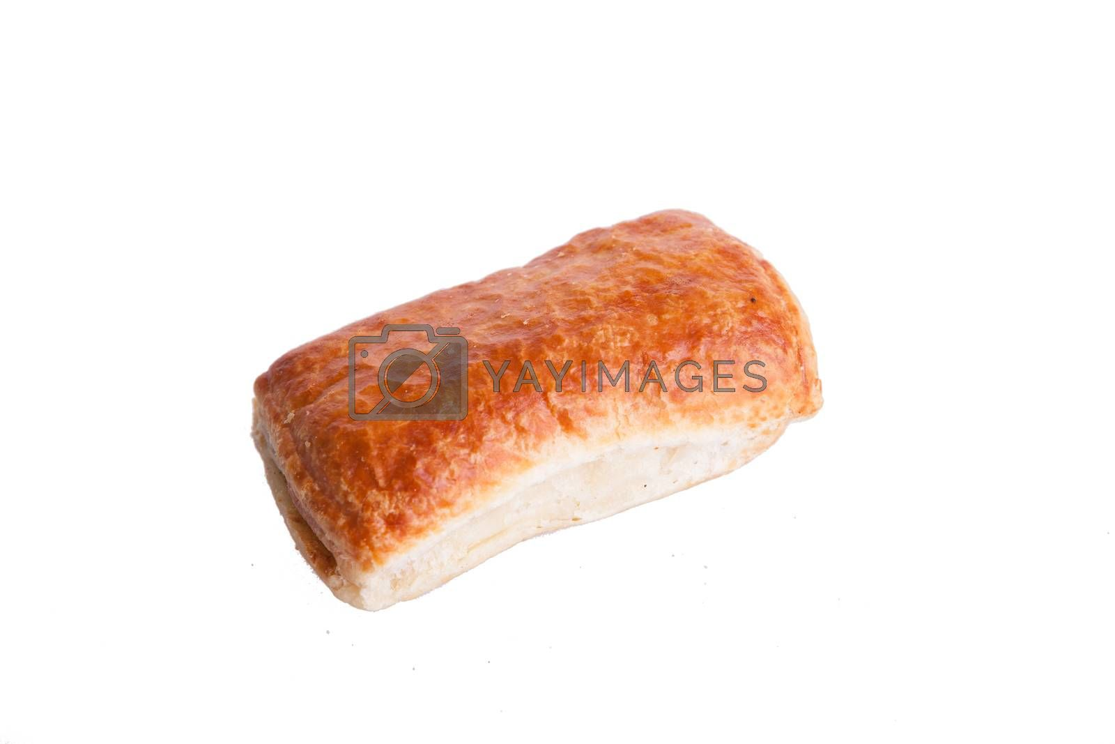 Puff and tasty pastry isolated on white background by DCStudio
