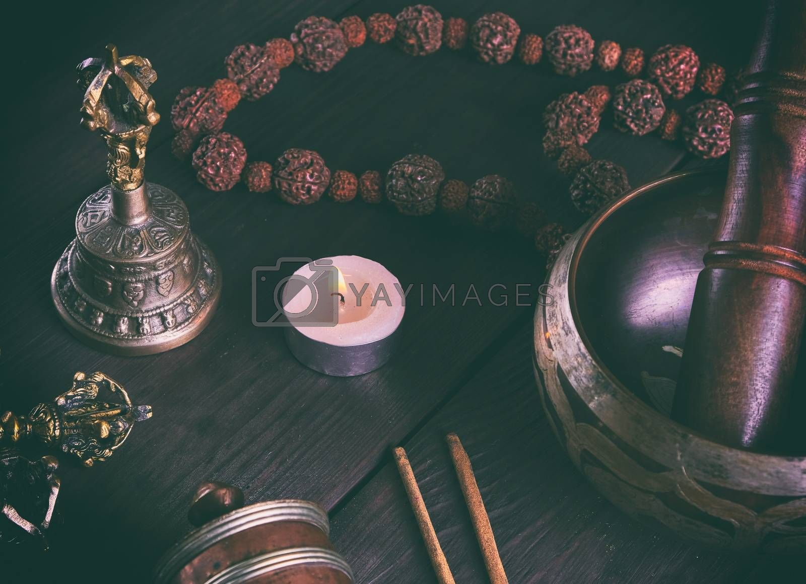 Tibetan religious objects for meditation and alternative medicin by ndanko