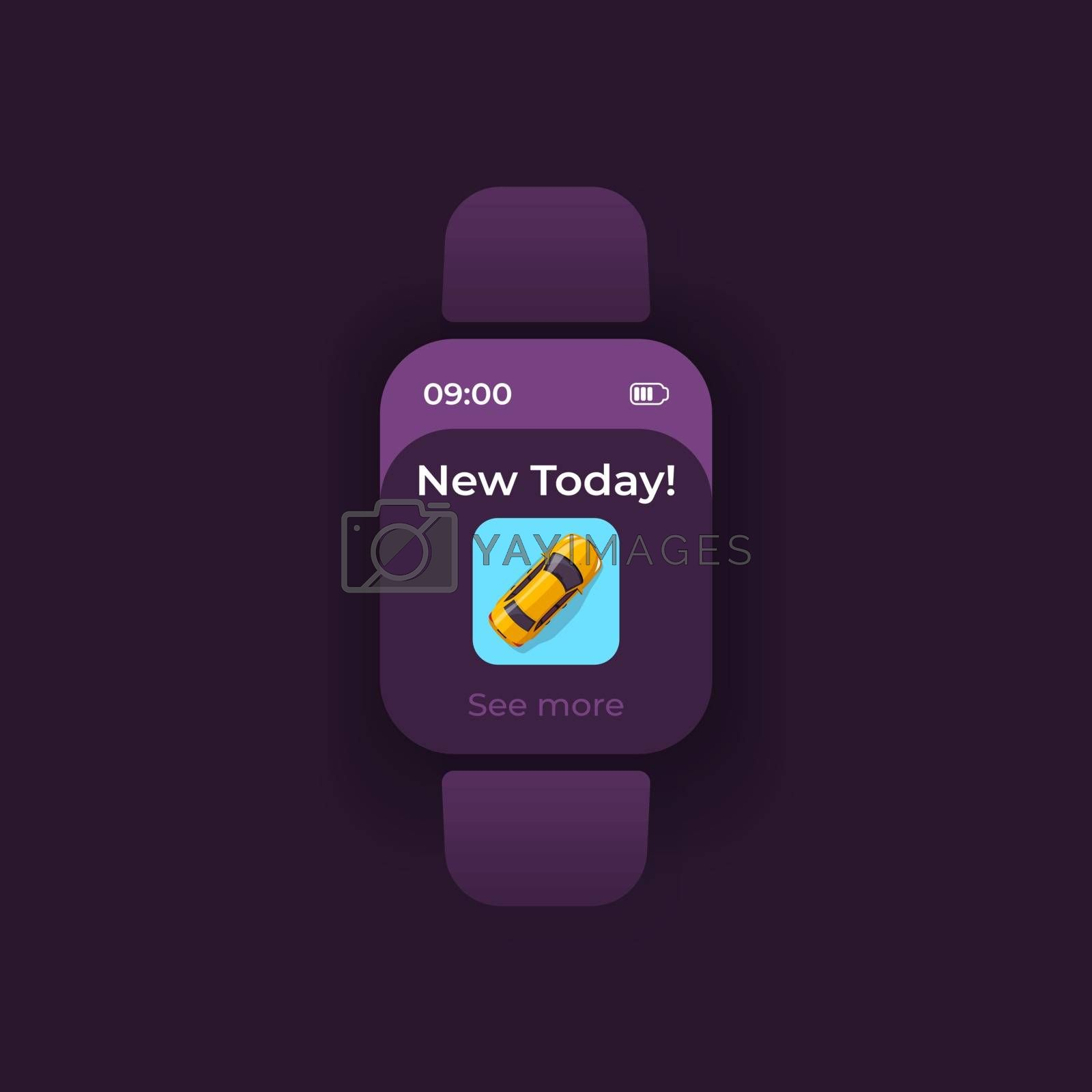 Transport update smartwatch interface vector template by bsd