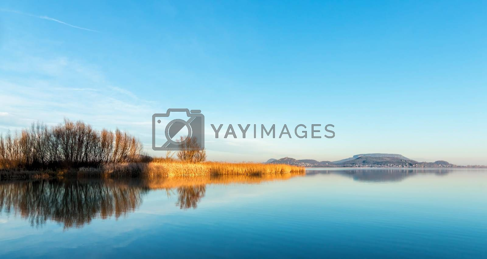 Landscape from Hungary from the lake Balaton