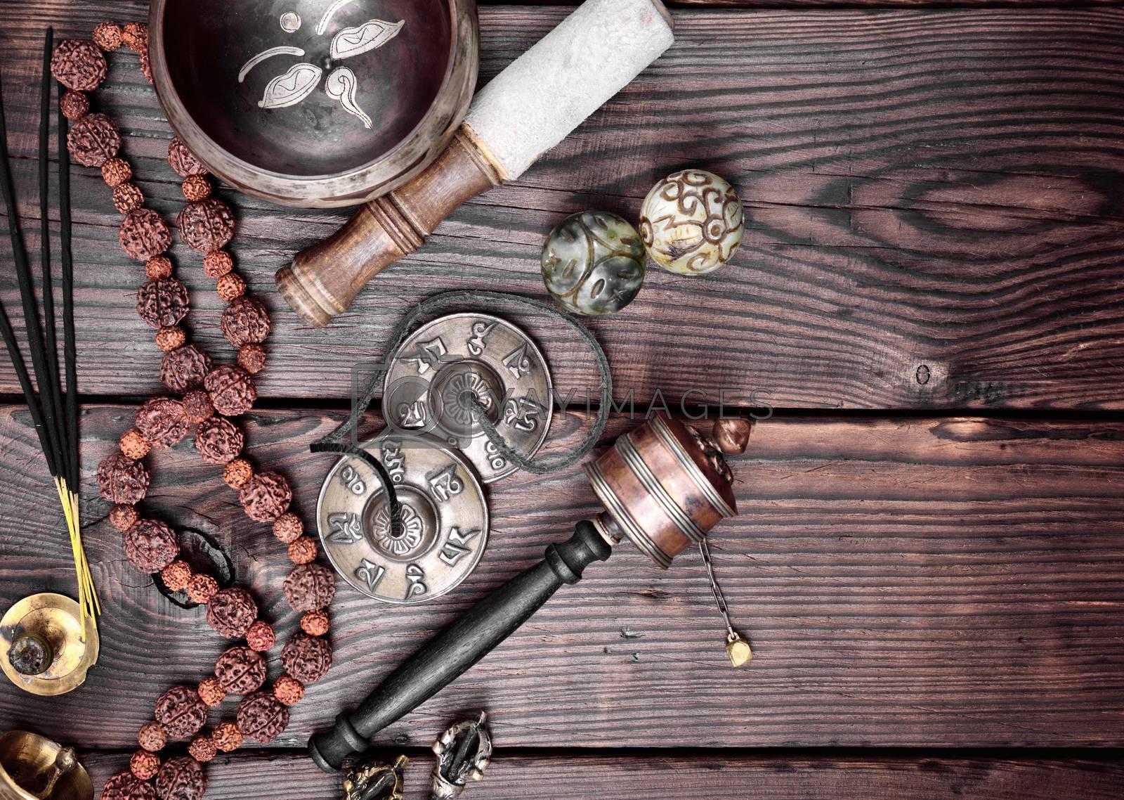 Tibetan religious objects for meditation by ndanko