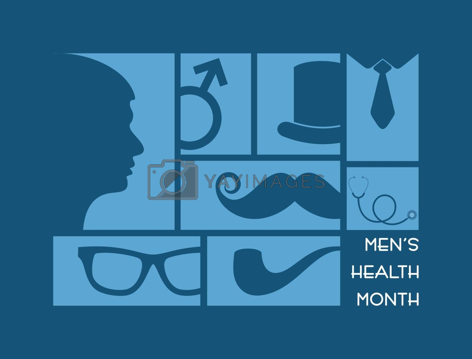 Vector illustration for men's health awareness month by graphicsdunia4you
