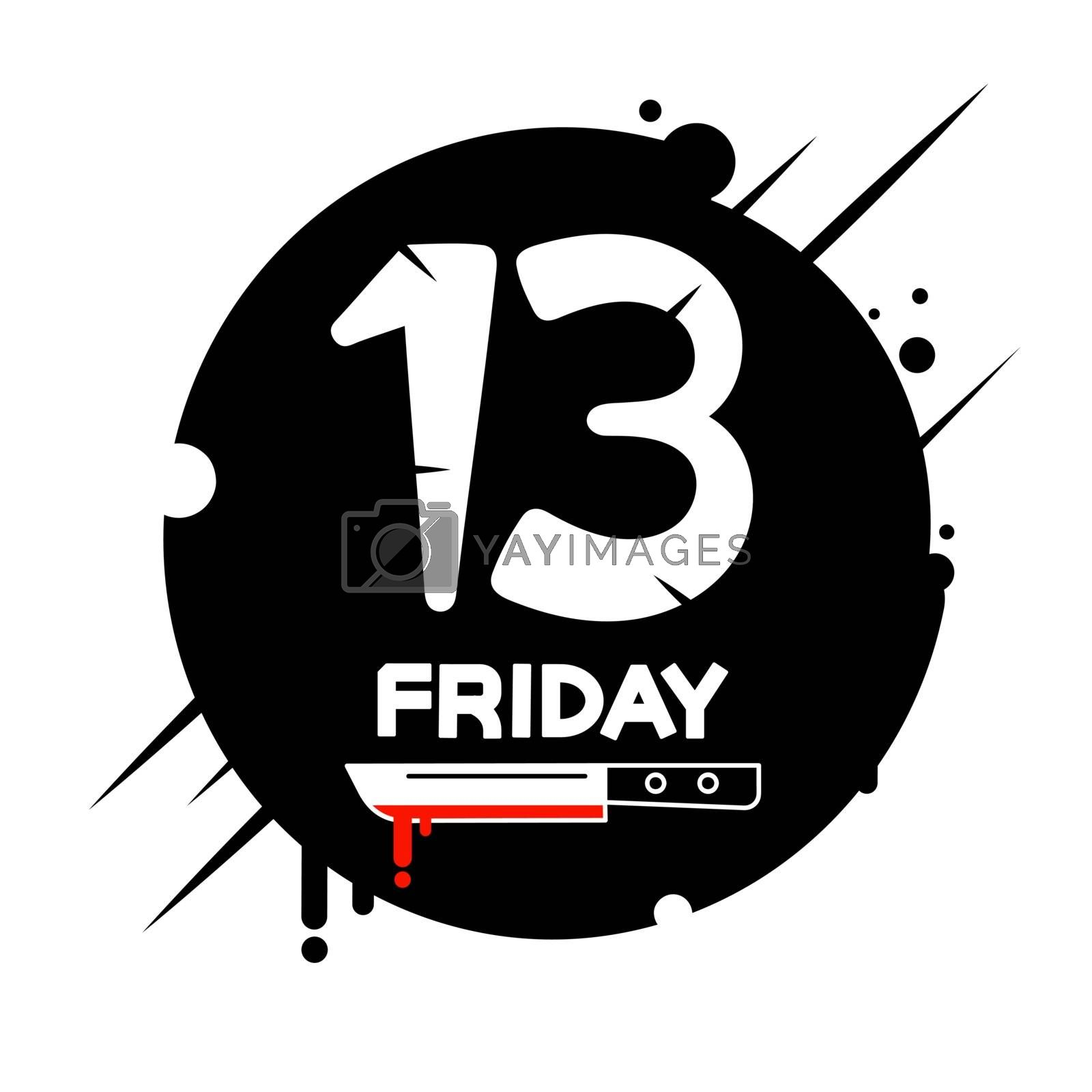 Friday the 13th calendar Vector Illustration Suitable For Greeting Card, Poster Or T-shirt Printing.