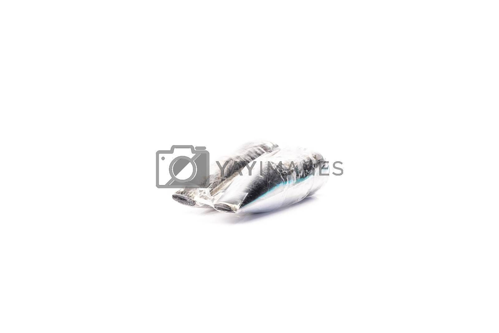 kitchen socket on white background in studio - Cake Decorating - Stainless steel