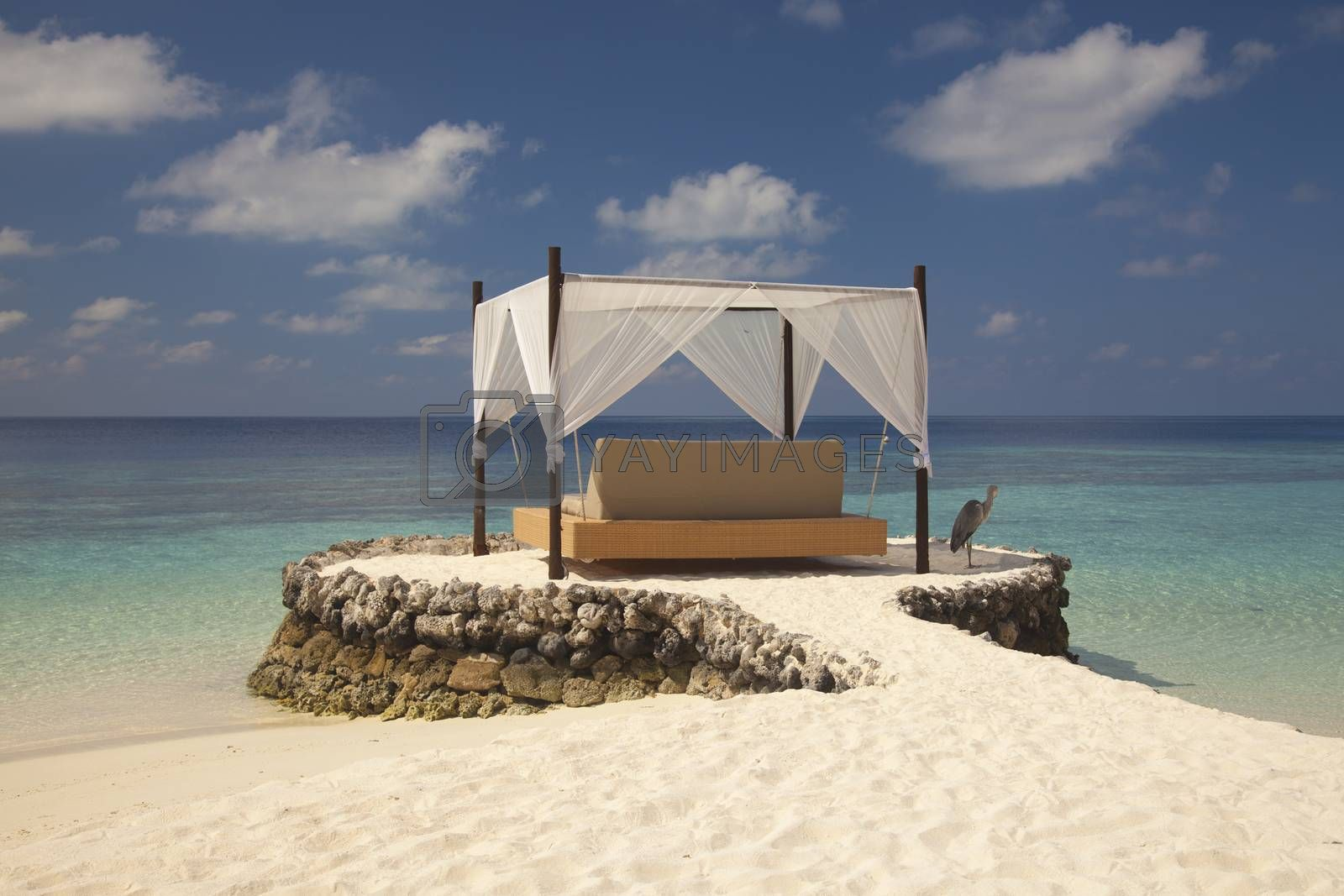 bed in the Maldives by maselkoo99