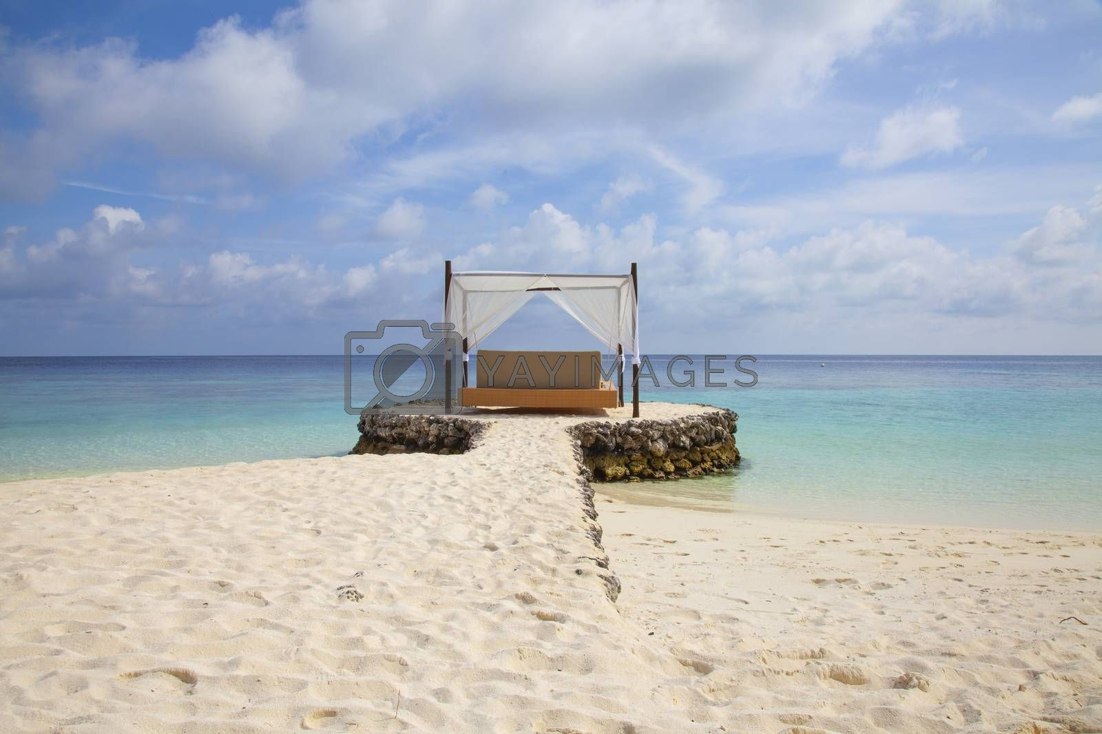 hanging bed on a small headland, beautiful sea view, Maldives by maselkoo99