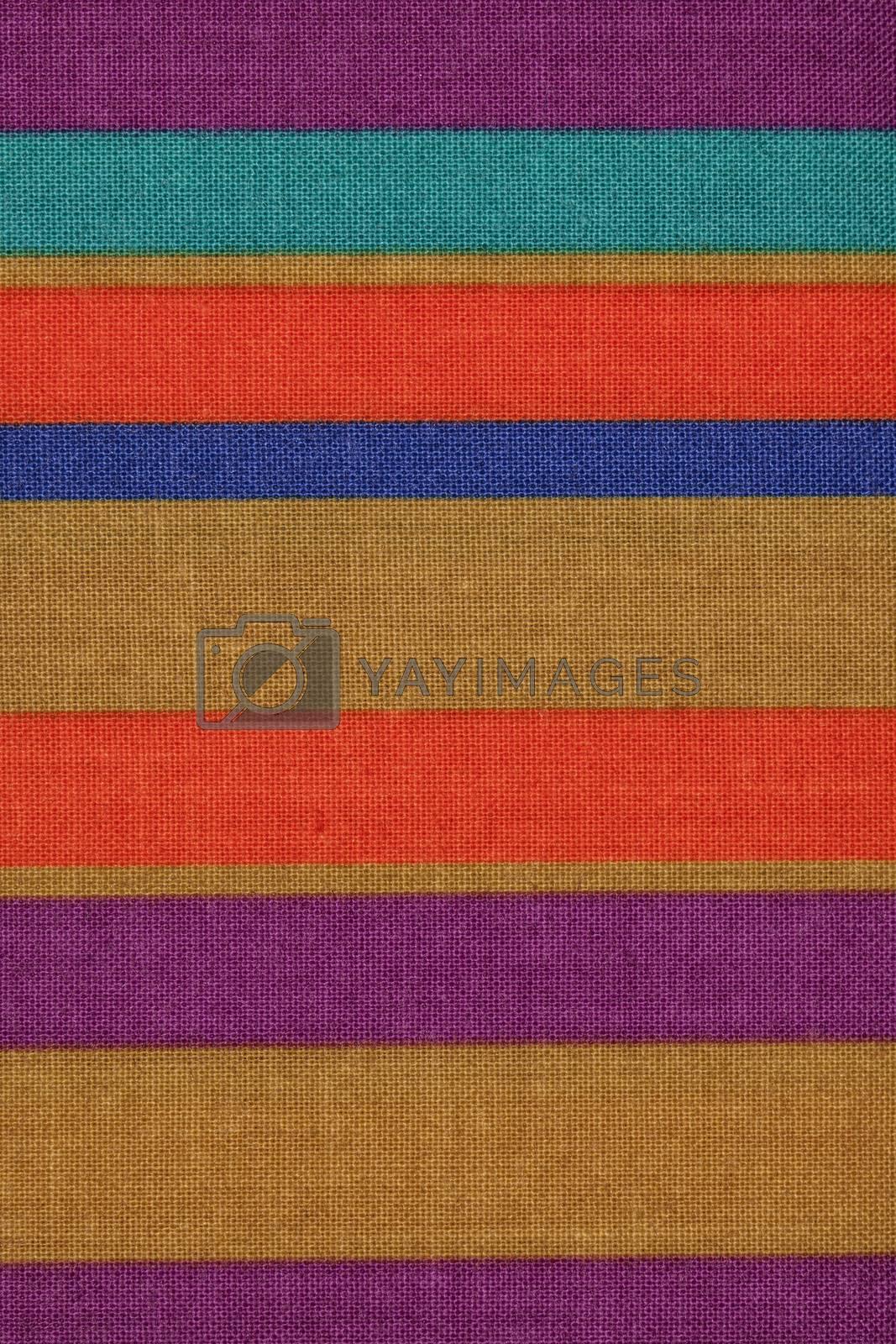 colored striped fabric