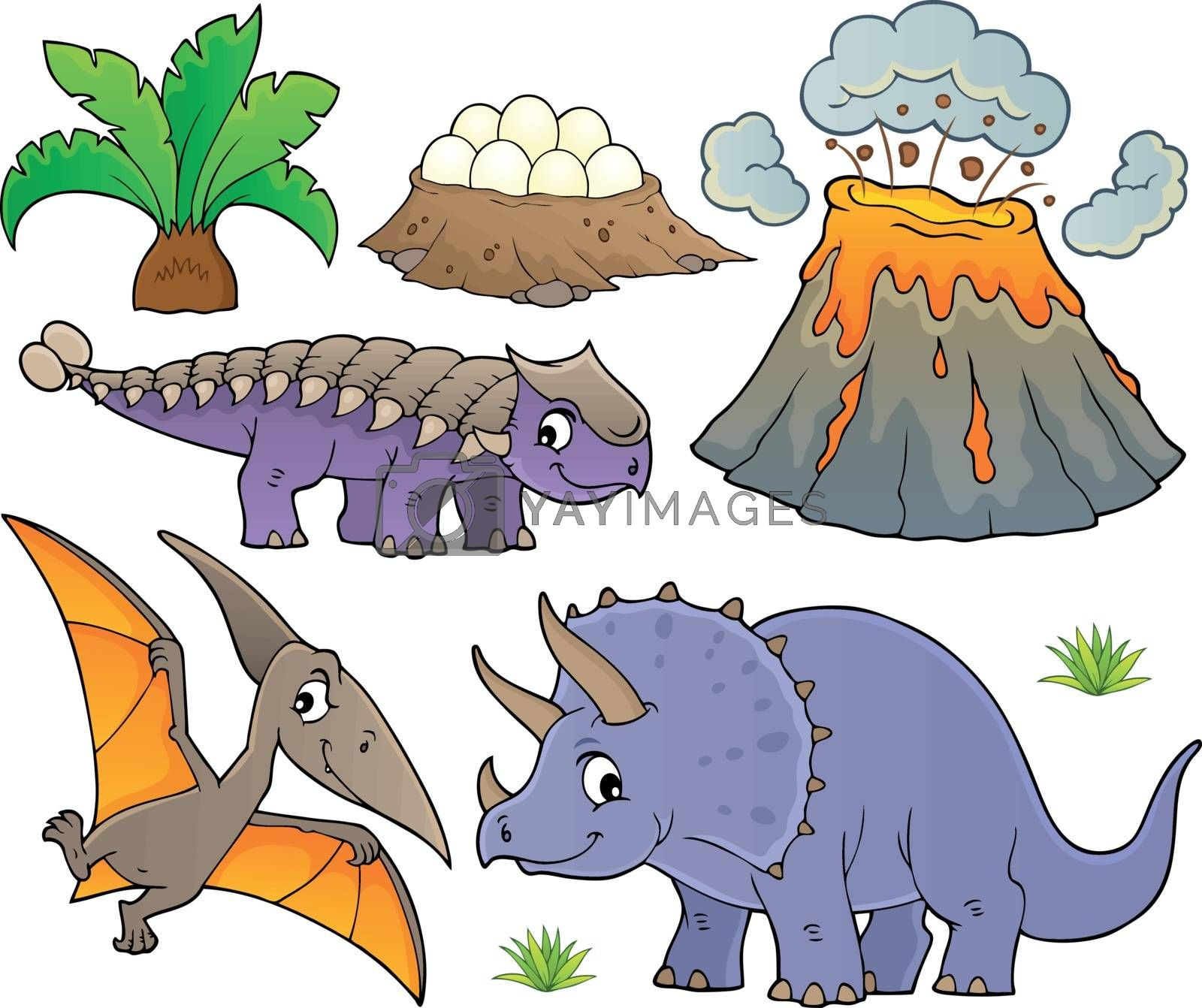 Dinosaur topic set 9 - eps10 vector illustration.