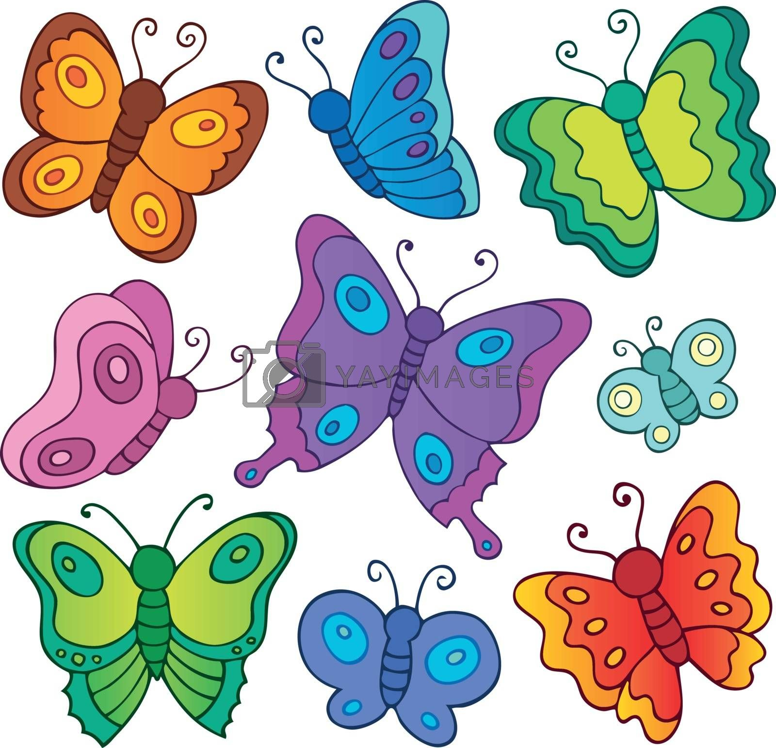 Various butterflies theme set 1 - eps10 vector illustration.