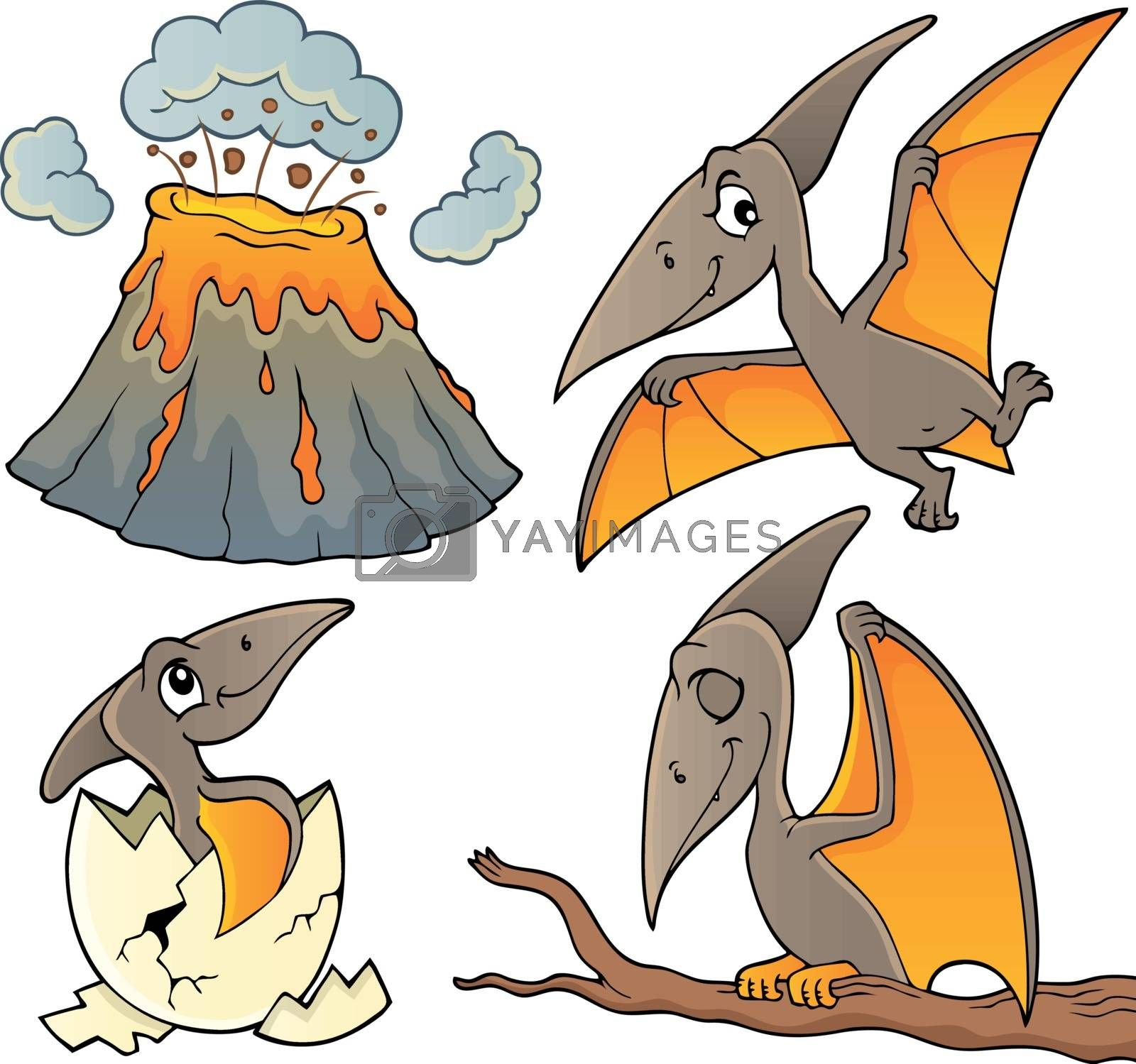 Pterodactyls theme set 1 by clairev