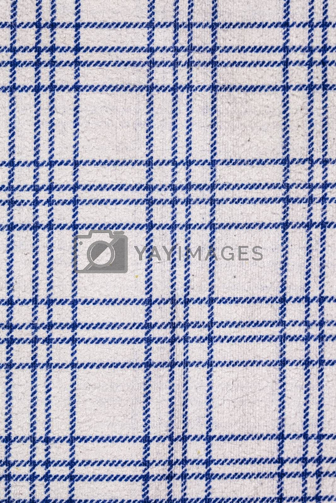 blue grid on a white background